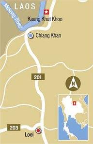 Chiang Khan, Loei ,Thailand Map