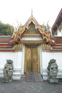 Wat Pho (Thai: วัดโพธิ์) or Wat Phra Chetuphon (Thai: วัดพระเชตุพน)