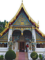 Wat Si Khun Muang is a showcase of Lao architecture.