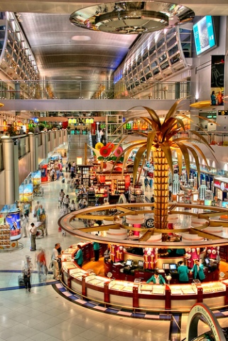 The decoration of Dubai airport is dazzling
